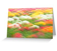 Spring Tulip Abstract Greeting Card