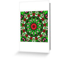 Snow Globe Kaleidoscope Greeting Card