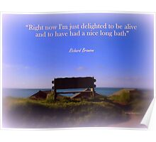 """Delighted to be Alive"" Poster"