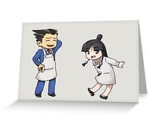 Phoenix Wright: Apprentice Baker Greeting Card