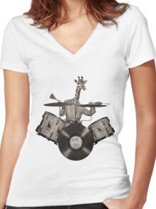 Anthropomorphic N°24 Women's Fitted V-Neck T-Shirt