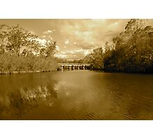 Bridge over River Photographic Print