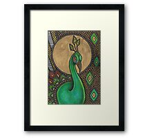 Icon VII: The Peacock Framed Print