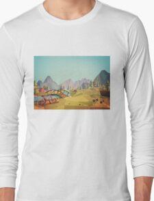 Geometric Enjoy Nature Long Sleeve T-Shirt
