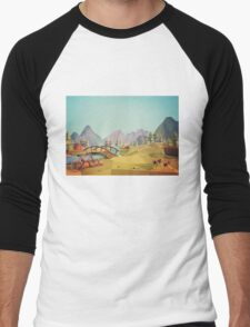 Geometric Enjoy Nature Men's Baseball ¾ T-Shirt