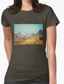 Geometric Enjoy Nature Womens Fitted T-Shirt