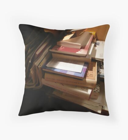 Bedside Story Throw Pillow
