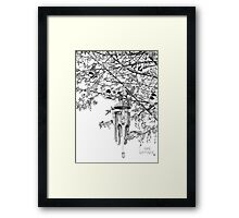 Hangin' with the Chickadees Framed Print