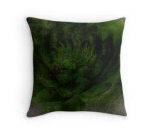 Flower Study/Green Throw Pillow