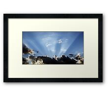 Shining Sun Rays on the Dark Sky Framed Print