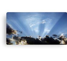 Shining Sun Rays on the Dark Sky Canvas Print