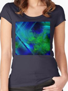 Untitled Abstract- 14-  Art + Products Design  Women's Fitted Scoop T-Shirt