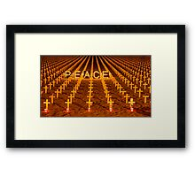 Arlington West 2007, Santa Barbara, California Framed Print
