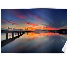 Bolton Point Pool Sunset Poster