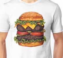 Double Cheeseburger Pattern Unisex T-Shirt