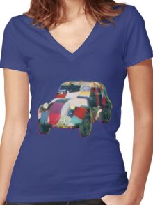 Bug in a Rug Women's Fitted V-Neck T-Shirt