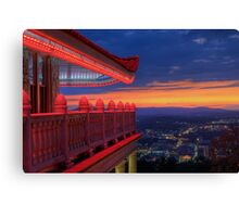 Pagoda Overlooking City of Reading, Pennsylvania Canvas Print
