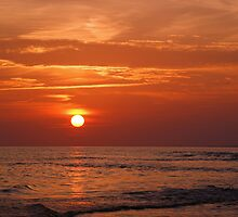 Sunset Over the Sea by Sandy Keeton