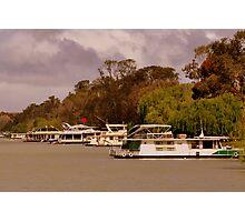 photoj S.A. Houseboats on the River Murray Photographic Print