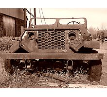 Old Jeep at Quincy Mine Photographic Print