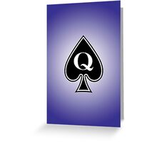 Smartphone Case - Queen of Spades - Purple Greeting Card