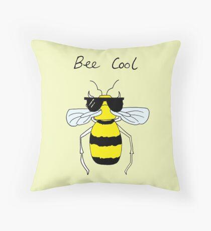 Bee Cool Throw Pillow