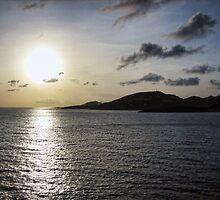 Sunset in St. Maarten by fullpruf