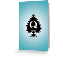 Smartphone Case - Queen of Spades - L/Blue Greeting Card