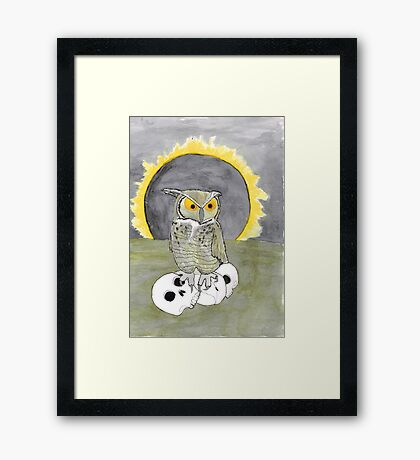 A fellow of infinite jest Framed Print