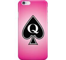 Smartphone Case - Queen of Spades - Magenta iPhone Case/Skin