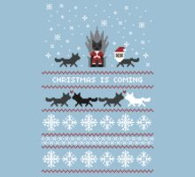 Red Christmas Sweater + Card   Unisex T-Shirt