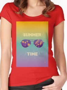 Summer time Women's Fitted Scoop T-Shirt