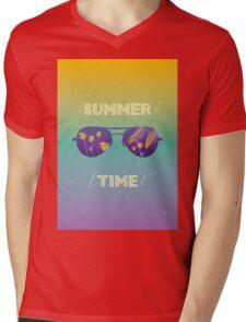 Summer time Mens V-Neck T-Shirt