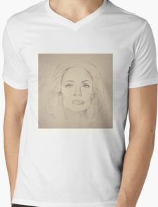 Portrait of Angelina Jolie - 2nd version Mens V-Neck T-Shirt