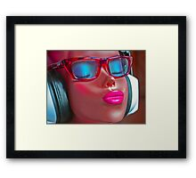 Head-phone Girl Framed Print