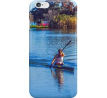 Solitary Springtime Rowing on Lake Weeroona iPhone Case/Skin
