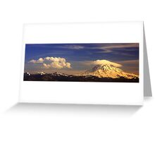 Lenticular and rotor clouds Greeting Card