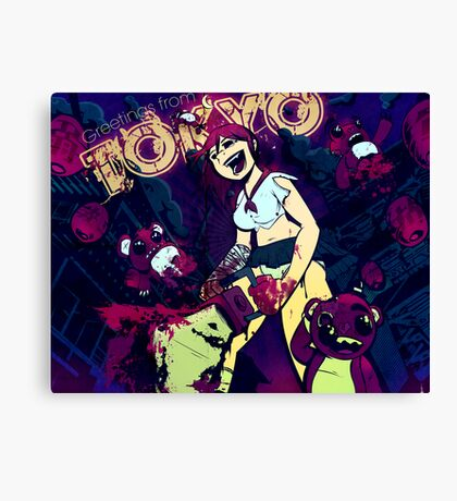 Greetings From Tokyo Canvas Print