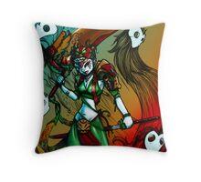 Jade warrior Throw Pillow