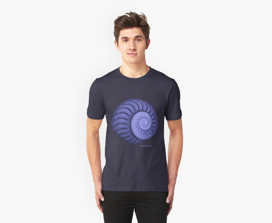 The Purple Spiral Tee by Pam Moore
