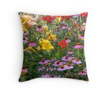 Flowers Growing Wild Throw Pillow