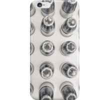 Hollow Point 9mm Bullets in Black and White iPhone Case/Skin