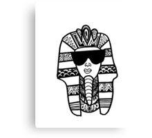 Egyptian Pharaoh Zentangle Canvas Print