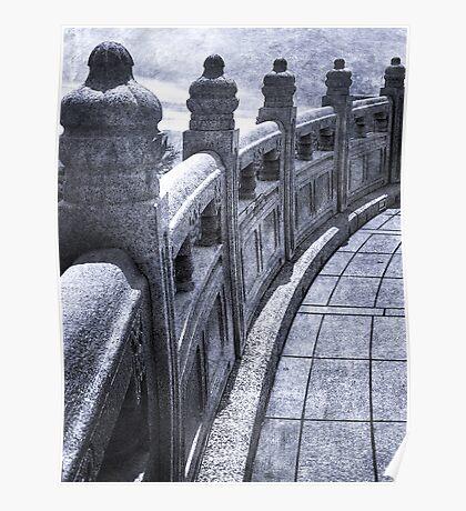 Temple at Ngong Ping Poster
