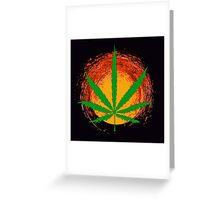 Marijuana Leaf and the Sun Greeting Card