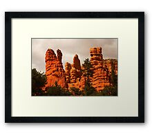 Cliffs, Red Canyon, Utah Framed Print