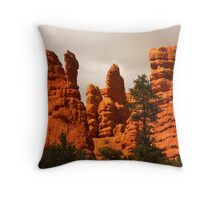 Cliffs, Red Canyon, Utah Throw Pillow