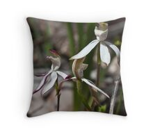 Stegostyla gracilis Musky Caladenia/Musky Caps Orchids Christmas Hills 20091005 2753 Throw Pillow