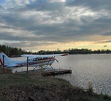 Float Plane on Lake Hood by Dyle Warren