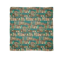 wooden buildings teal Scarf